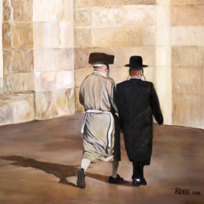 In-het-voorbijgaan-Herinnering-aan-Jeruzalem-olieverf-op-paneel-40x50cm-