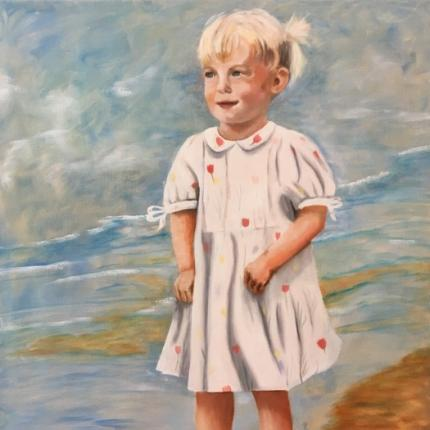 Meisje, olieverf op doek, 50x60cm
