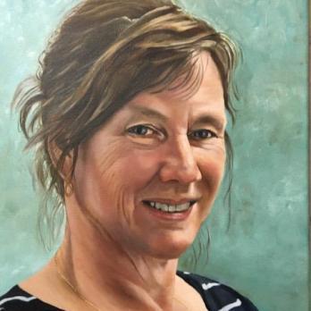 Zelfportret, olieverf op doek, 30x40cm